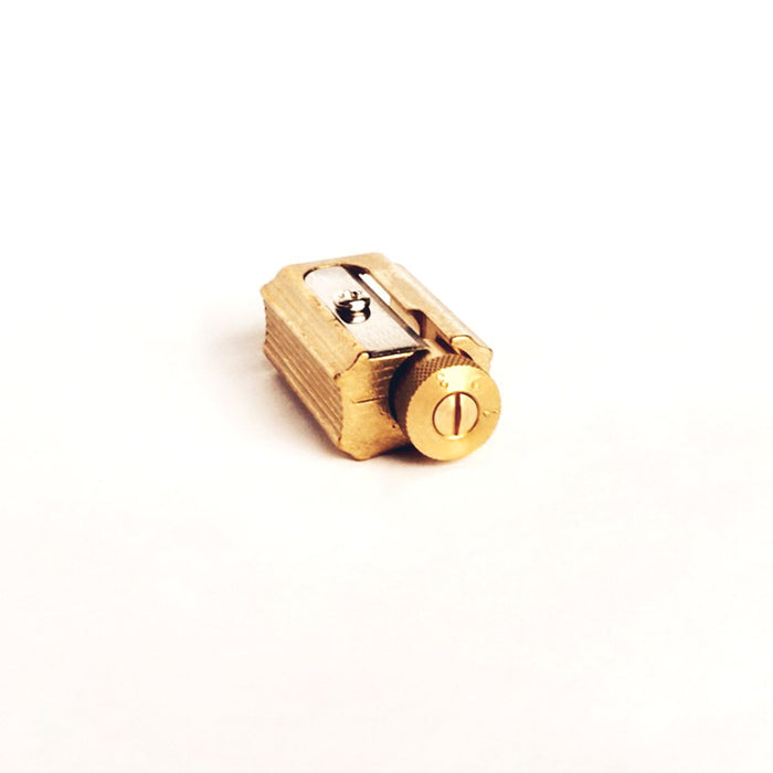 Dux Adjustable Brass Sharpener in Brass