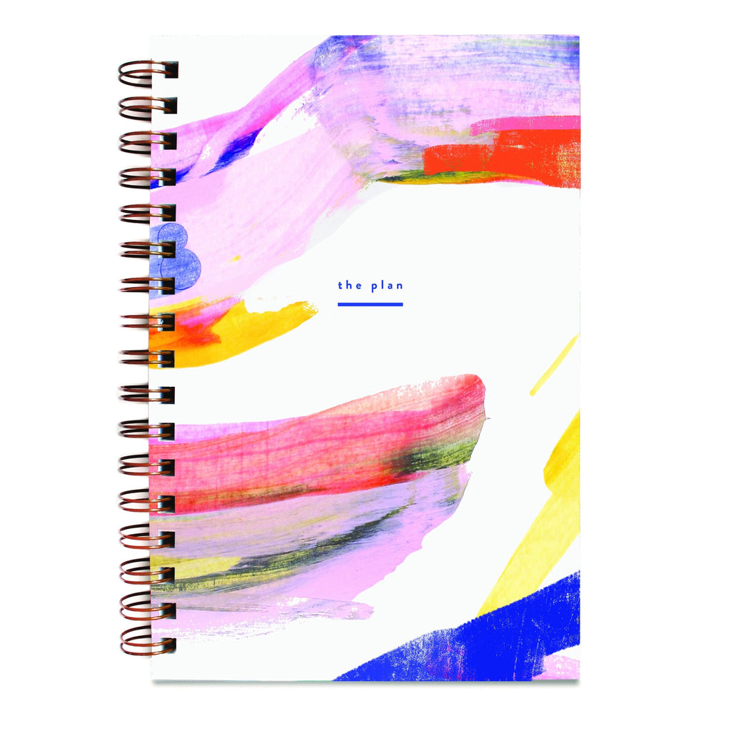 Moglea Rainbow Weekly Jotter/Planner with undated calendar and dot grid pages