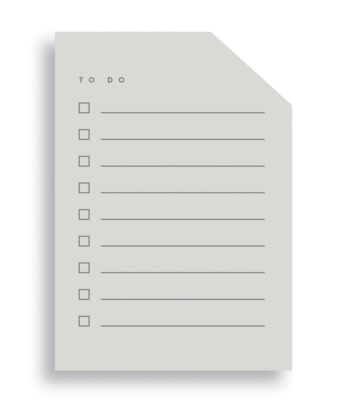 Moglea Colorblock Notepad. 125 lined sheets with checkboxes for to do lists. Handpainted edges.