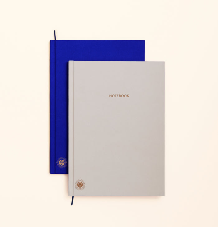 Octaevo Notebook Planner in Blue/Grey