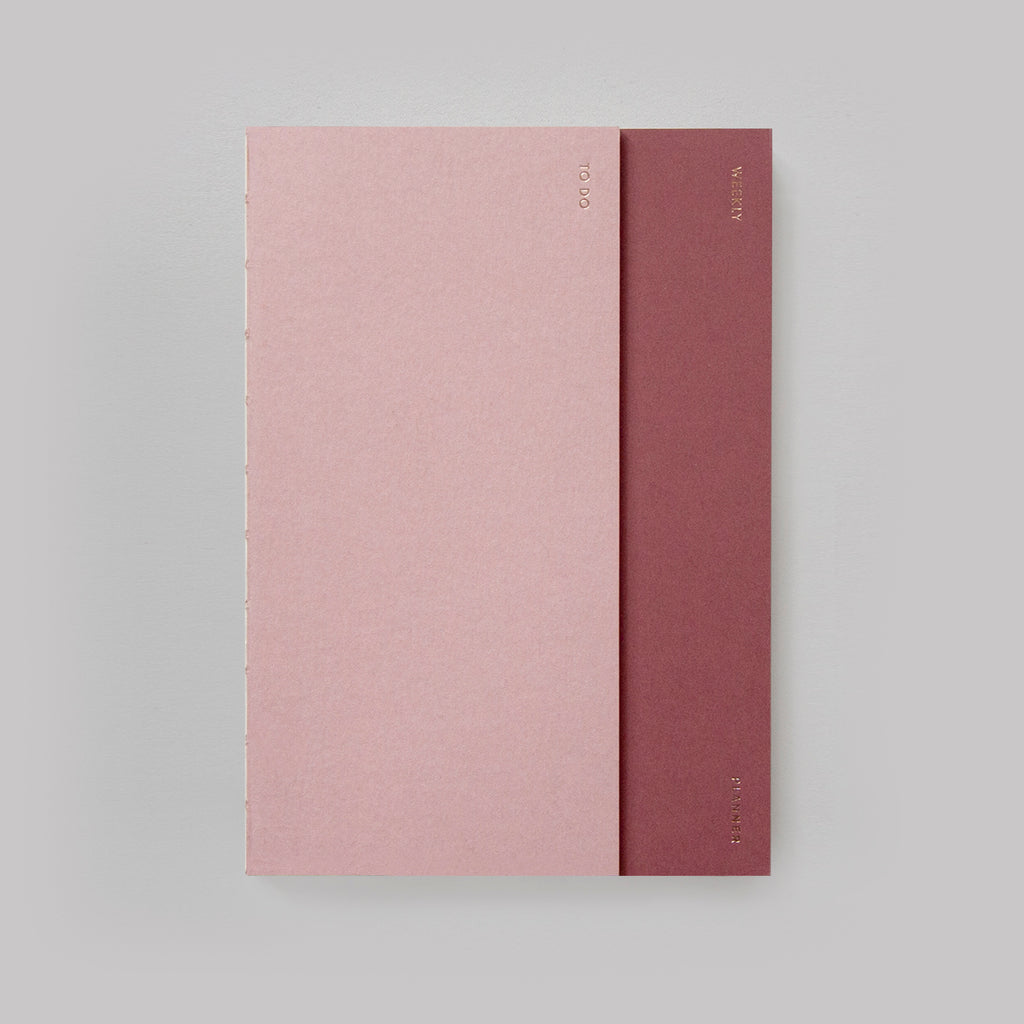 Poi Co. 2-in-1 Planner in Dusty Pink