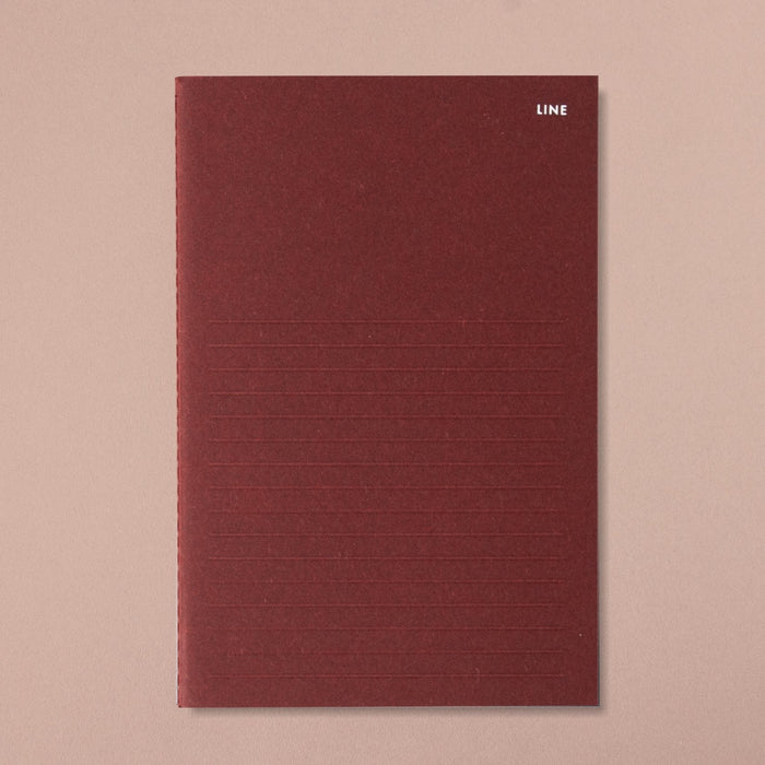 Poi Co. Slim Note in Line/Burgundy
