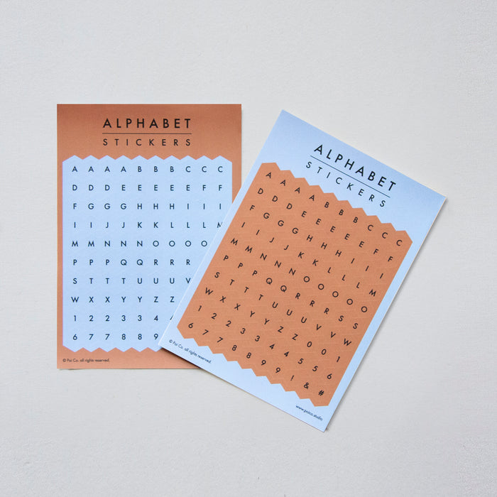 Poi Co. Hexagon Alphabet Stickers in Blue/Brown