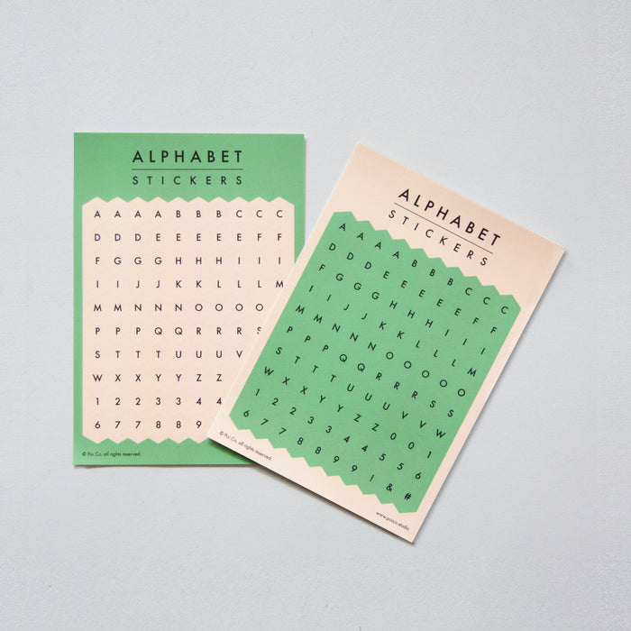 Poi Co. Hexagon Alphabet Stickers in Green/Vanilla