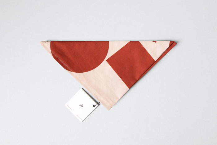 Ola Organic Cotton Wrap Block Prints in Salmon and Red