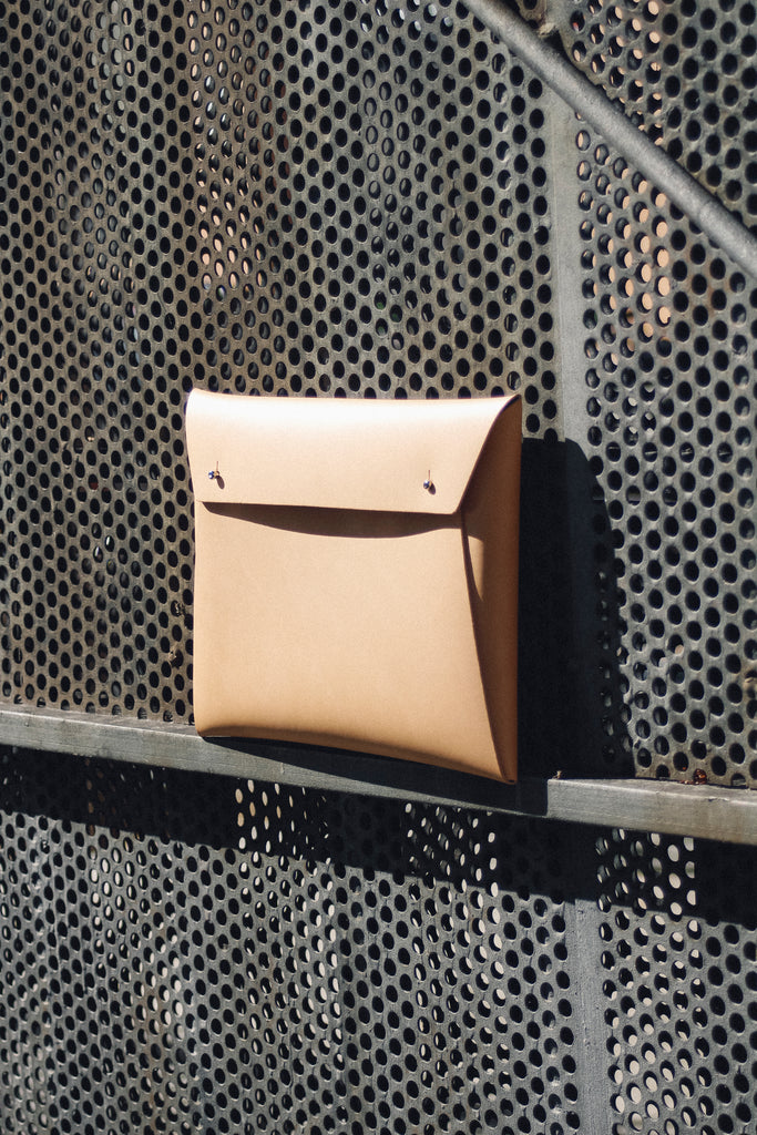 Walk With Me Recycled Leather Small Document Organizer in Camel