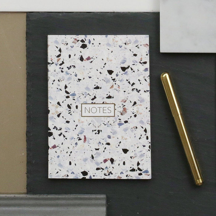 Form Maker Terrazzo Notebook in White