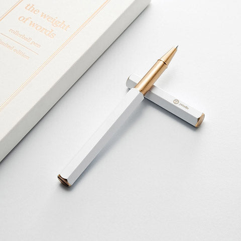 ystudio White Rollerball Pen - Limited Edition