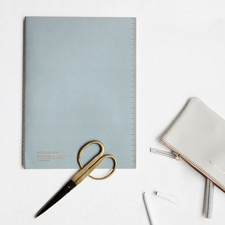 Monograph Soft A4 Ruled Notebook in Blue
