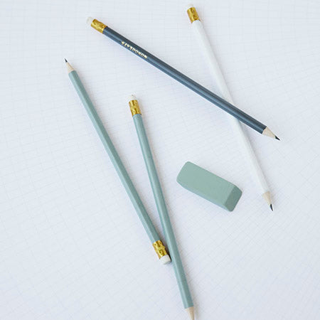 Monograph Pencil with Eraser in Green