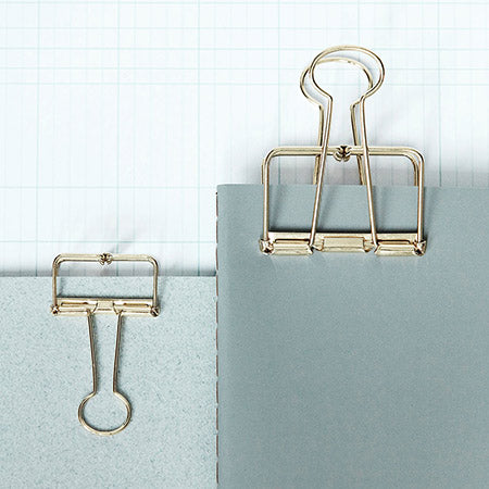Monograph Small Wire Clips in Gold