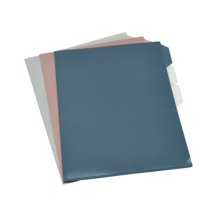 Monograph Document Folder in Blue, Blush and Grey