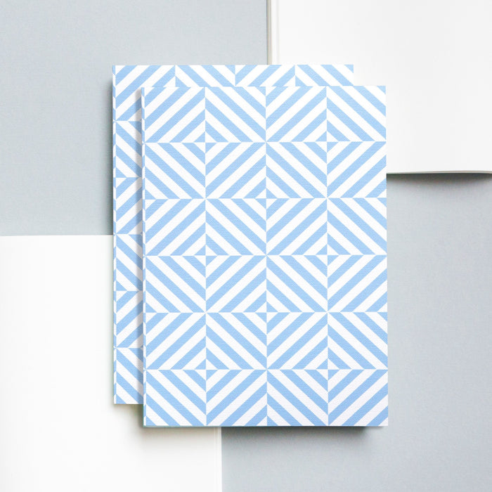 Ola Studio Alma Print Layflat notebook in Salvia Blue