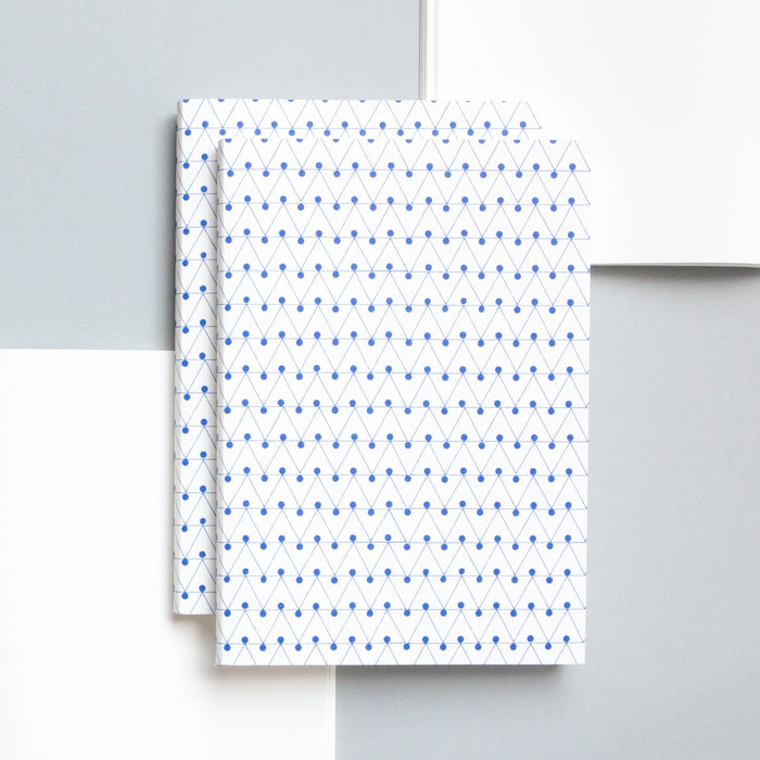 Ola Studio Dash Print Layflat Notebook in Klein Blue