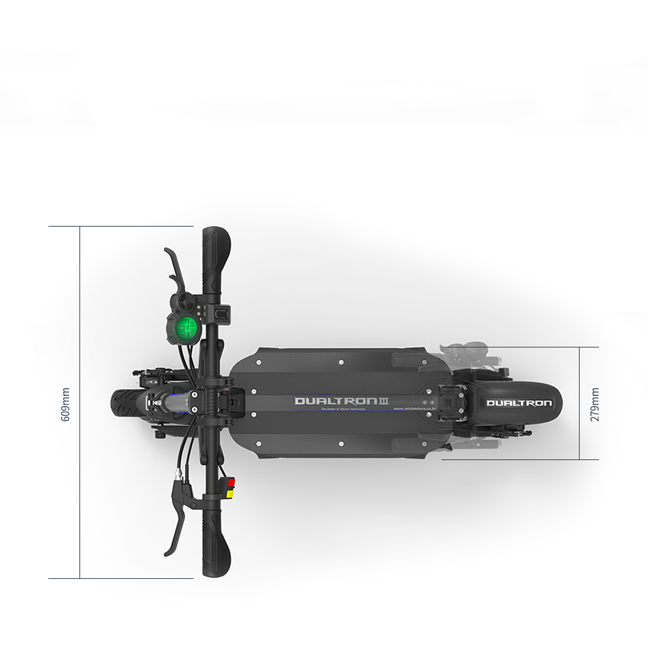 Dualtron 3 Electric Scooter Overhead Dimensions