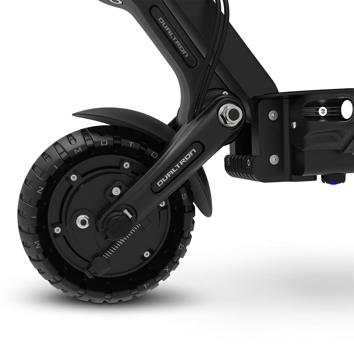 Dualtron Compact Electric Scooter Front Suspension Detail