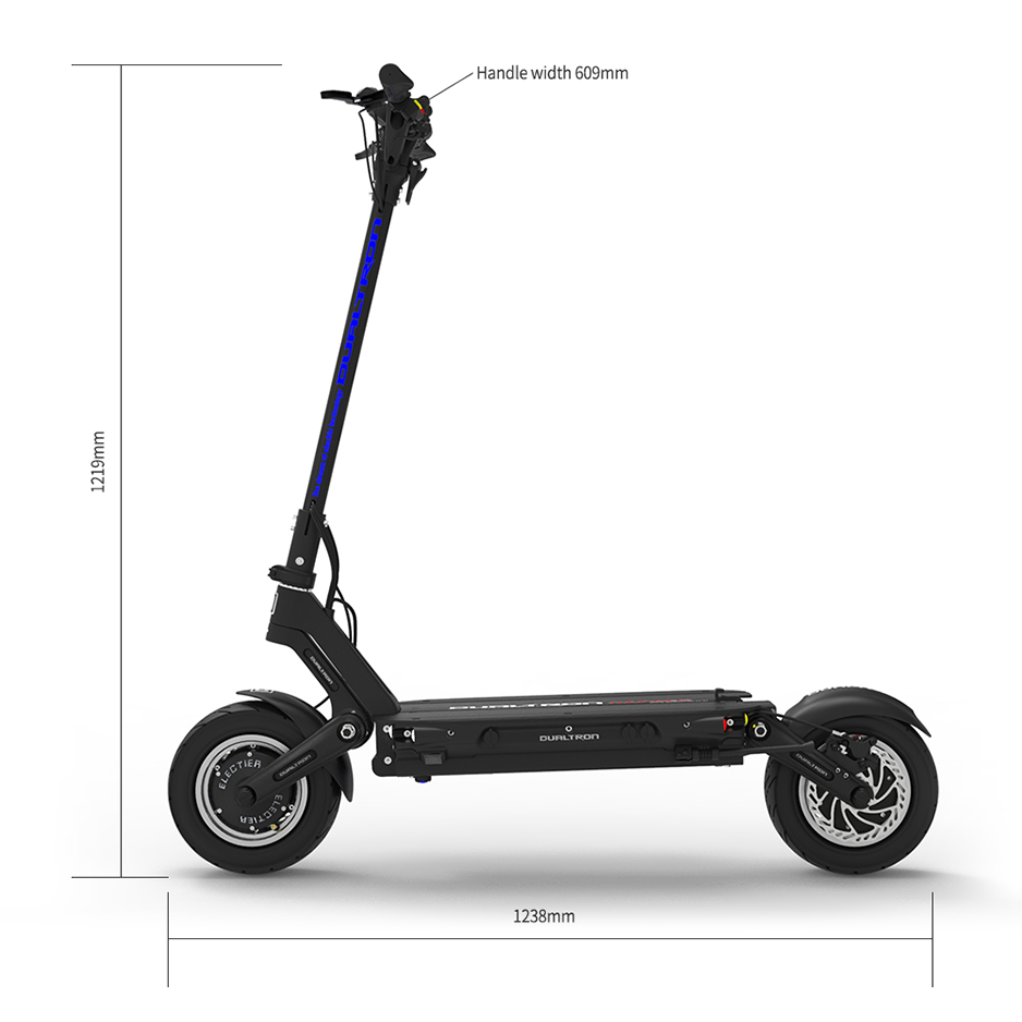 Dualtron Thunder Electric Scooter Standing Dimensions