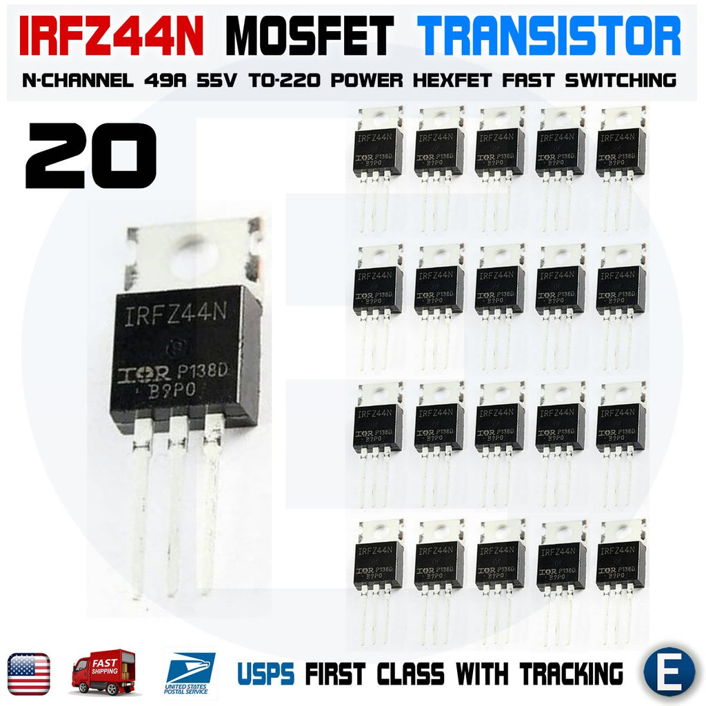 50 pieces MOSFET 55V 1 N-CH HEXFET 8mOhms 44nC