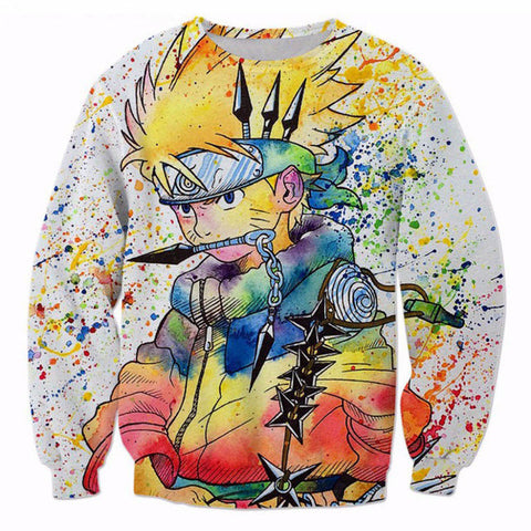 Naruto Rainbow Paint Sweatshirt