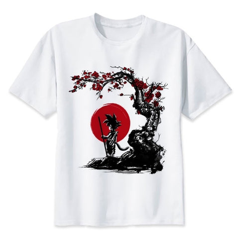 Dragon Ball Goku Sakura Tree - T-Shirt