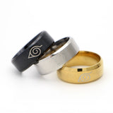 Naruto Konoha Stainless Steel Rings