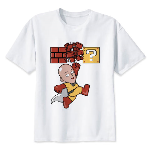 One Punch Man Saitama x Mario T-Shirt