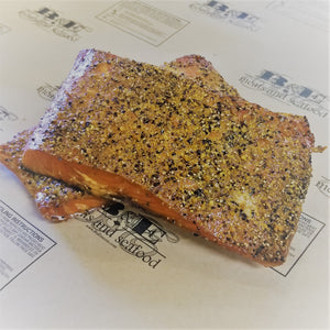 Alder-smoked salmon lemon pepper (priced per lb.)