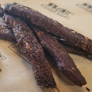 Beef jerky, thick cut pepper (priced per lb.)