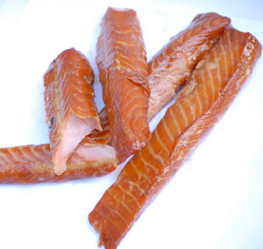 Alder-smoked candy salmon (priced per lb.)