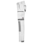 BAD ATTITUDE™ SLIM FIT WHITE PAINTERS WORK PANTS