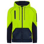 BAD® WATERPROOF HI-VIS FULL-ZIP FLEECE HOODIE