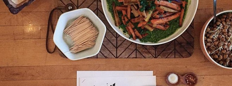 ROASTED CARROTS WITH ARUGULA PESTO