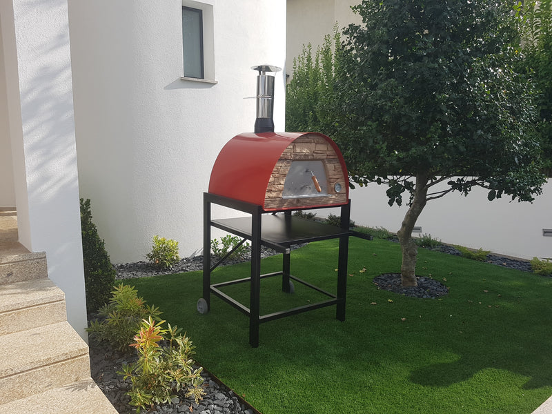 MAXIMUS ARENA MOBILE PIZZA OVEN RED - Authentic Pizza Ovens