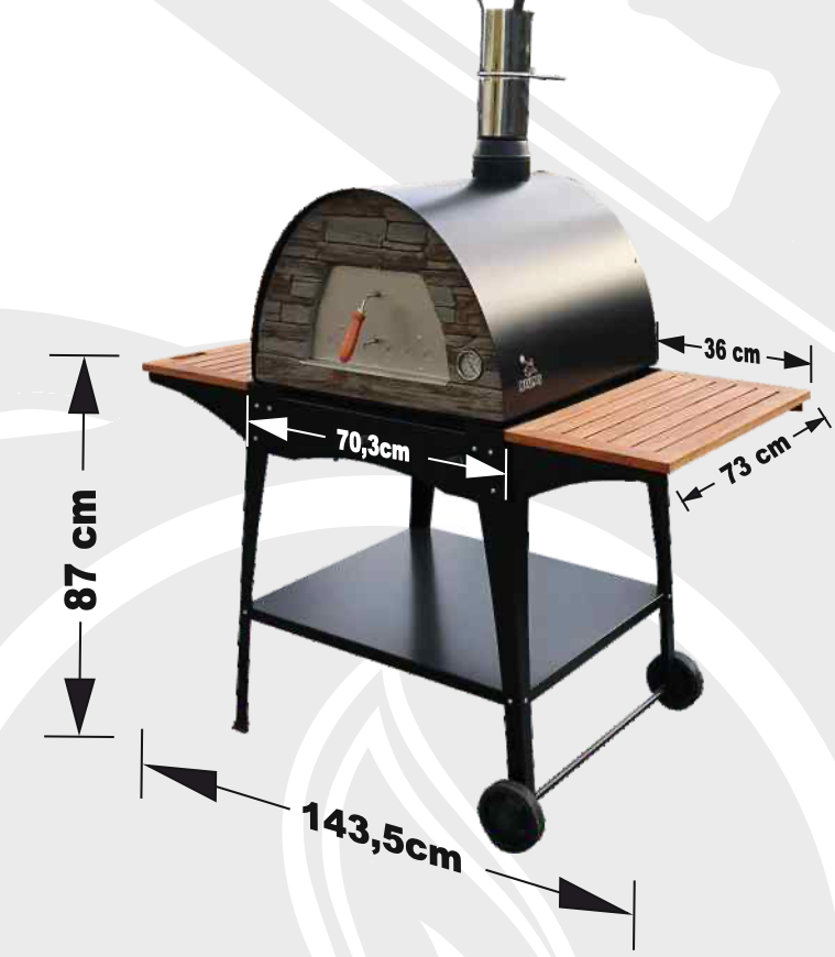 """NEW"" MAXIMUS ARENA MOBILE PIZZA OVEN STAND ""WOODY"""