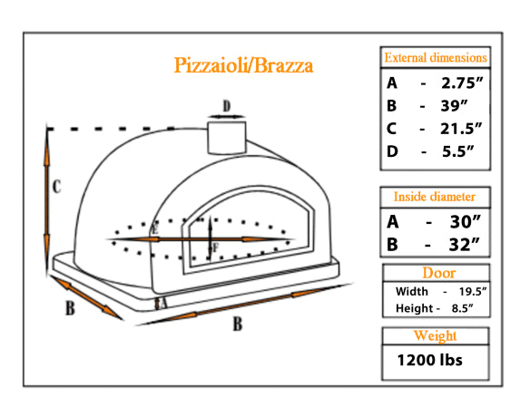 "PIZZAIOLI PIZZA OVEN ""NEW"" STONE ARCH - Authentic Pizza Ovens"