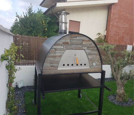 MAXIMUS PRIME ARENA PORTABLE PIZZA OVEN BLACK - Authentic Pizza Ovens