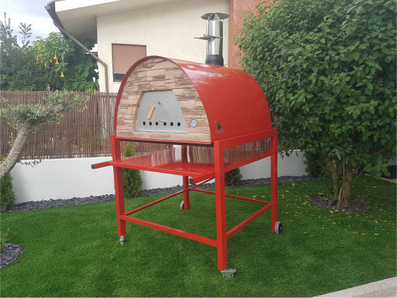 MAXIMUS PRIME ARENA PORTABLE PIZZA OVEN RED - Authentic Pizza Ovens