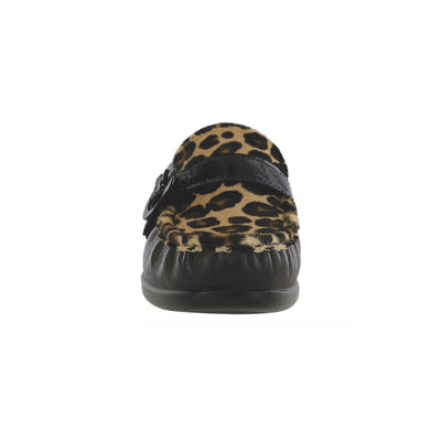SAS Shoes Lara Black / Leopard: Comfort Women's Shoes