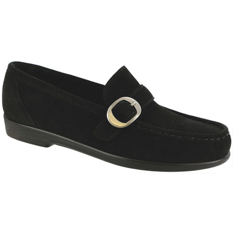 SAS Shoes Lara Black Suede: Comfort Women's Shoes
