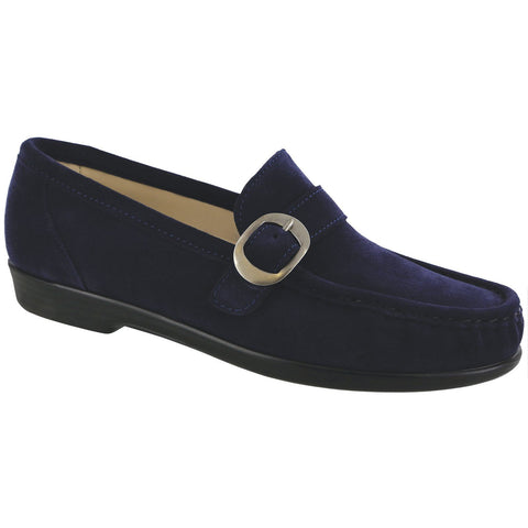 SAS Shoes Lara Navy Suede: Comfort Women's Shoes