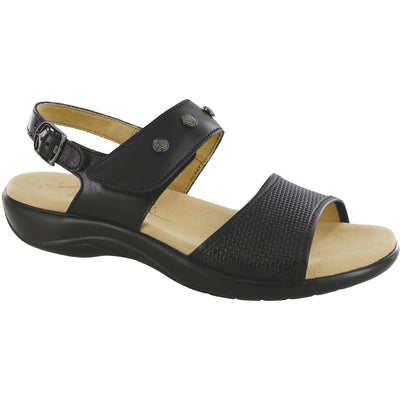 SAS Shoes Lisette Woven Black: Comfort Women's Sandals