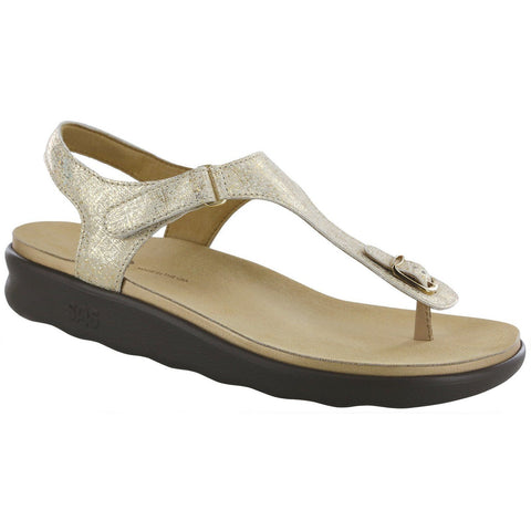 SAS Shoes Marina Shiny Gold: Comfort Women's Sandals