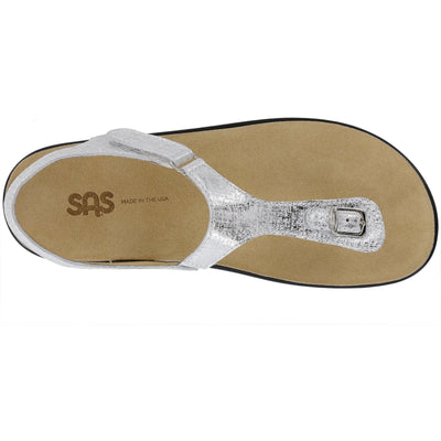 SAS Shoes Marina Shiny Silver: Comfort Women's Sandals