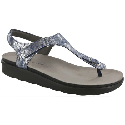 SAS Shoes Marina Silver Blue: Comfort Women's Sandals