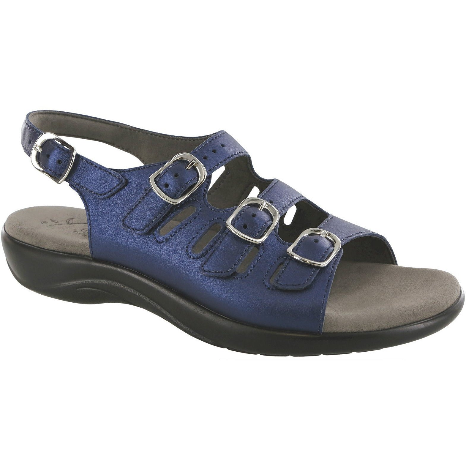 Mystic Blue Perlato by SAS Shoes: Comfort Women's Sandals