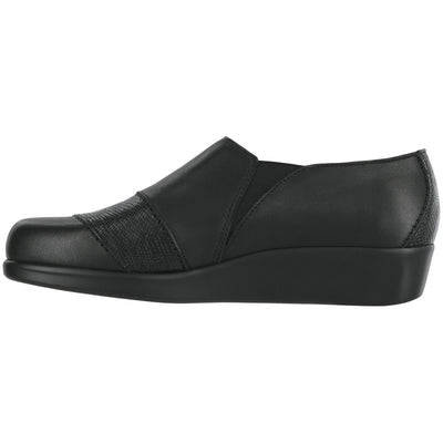 SAS Shoes Nora Black / Lizard: Comfort Women's Shoes