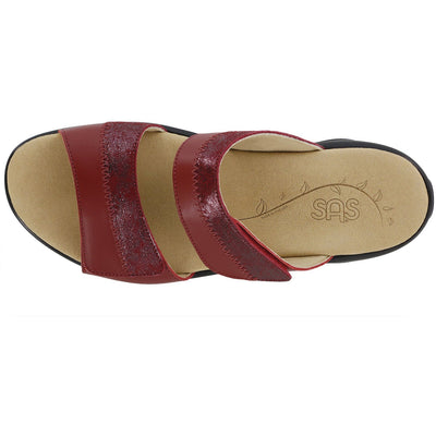 SAS Shoes Nudu Slide Ruby / Cabernet: Comfort Women's Sandals