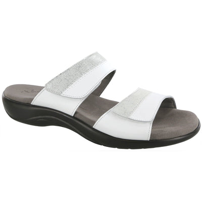 SAS Shoes Nudu Slide White / Silver: Comfort Women's Sandals
