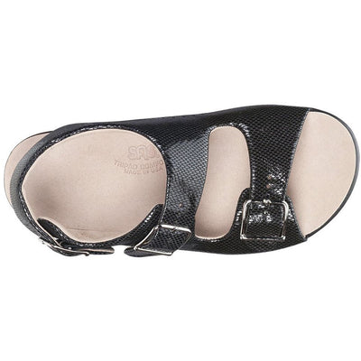 SAS Shoes Relaxed Black Snake: Comfort Women's Sandals