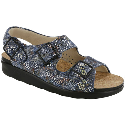 SAS Shoes Relaxed Multisnake Navy: Comfort Women's Shoes